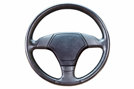 Steering wheel on isolate background