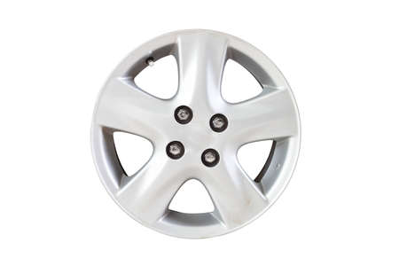 mag: Car wheel on isolate background  Stock Photo