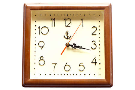 Square clock on white isolate background  photo