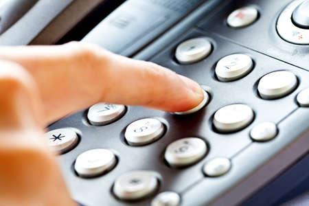 close up shot of business phone keypad