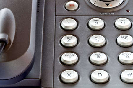 close up shot of business phone keypad photo