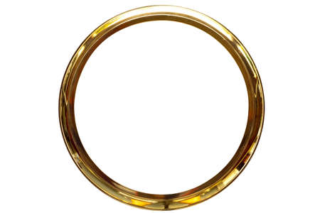 gold ring frame on isolate  photo
