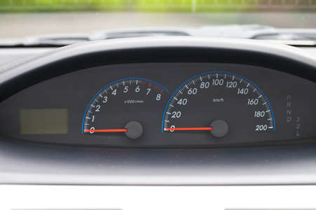 car mile meter of modern car  photo