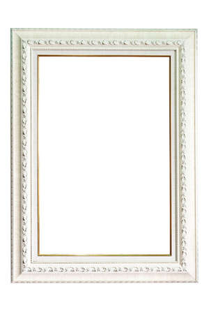 White wood frame on isolate background  photo