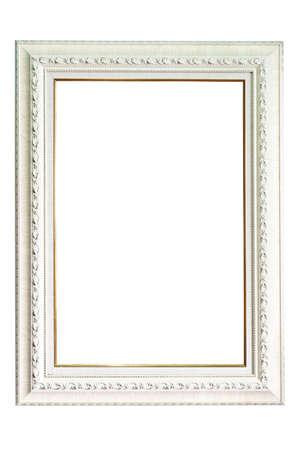 White wood frame on isolate background  Stock Photo