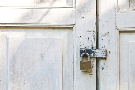 Old Lock on vintage door Stock Photo - 16013613