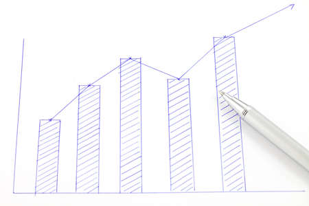 Chart on paper with pen Stock Photo - 16325373
