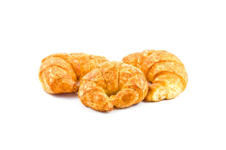 croissant on over white background