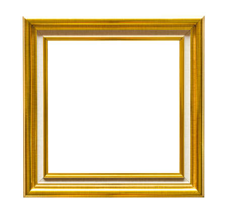gold frame on isolate  Stock Photo