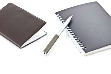 Notebook with pen  photo