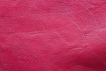 Close up red leather texture  photo