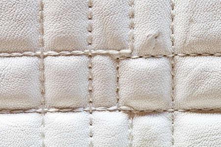 Close up white fake leather texture Stock Photo - 16588133