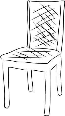 chair vector: Sedia linea vettoriale