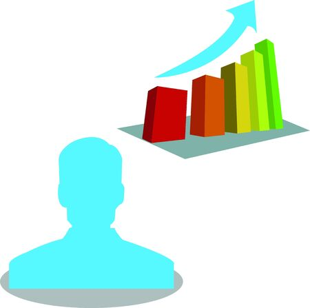 people with growth business graph  Vector
