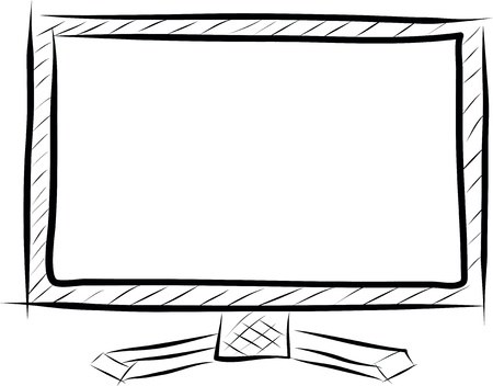 television vector line