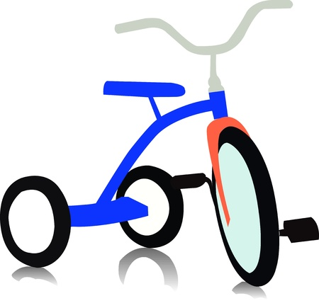 Tricycle vector  Vector