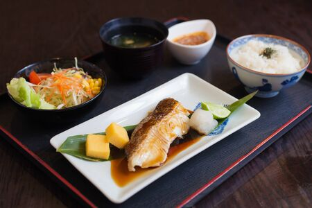 Bream fish with lemon japanese food