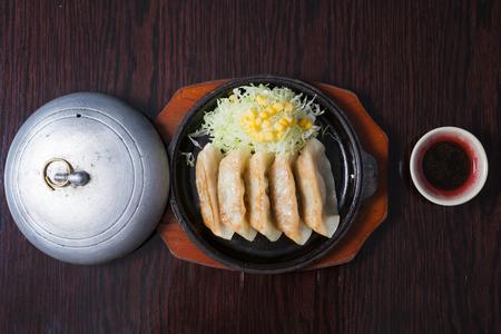 Gyoza japanese food set