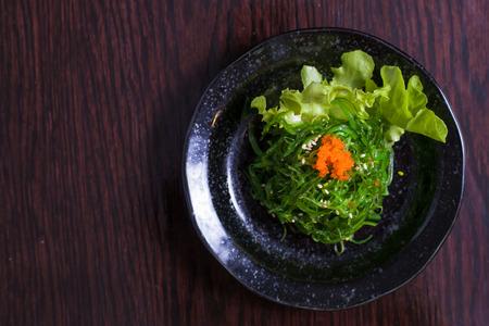 seaweed salad japanese food