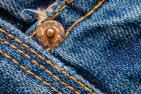 Close up macro jeans cotton texture Stock Photo