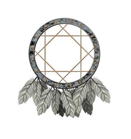 dreamcatcher: Consulte la ilustraci�n de un cazador de sue�os americano nativos
