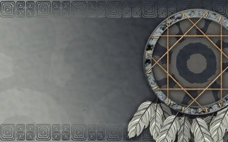 dreamcatcher: Vemos la ilustraci�n de un cazador de sue�os del nativo americano
