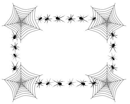 クモの巣と異なるスパイダー ベクトル境界線