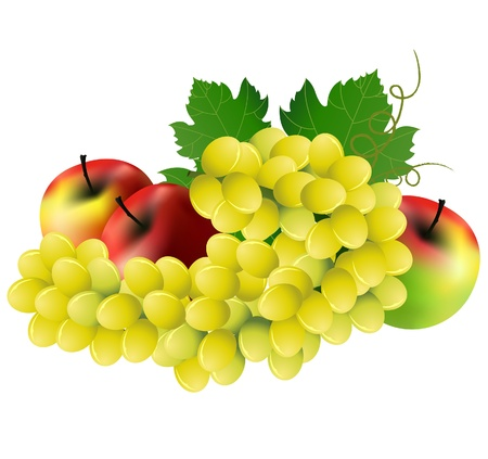 taverns:  image of Grape three red apples on white