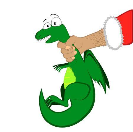Vector of Tiny dragon in Santa Stock Vector - 11176939