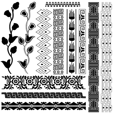 mesoamerican: Vector image of ancient american pattern on white