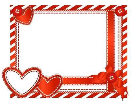 valentines holiday: Vector of Valentine horizontal card
