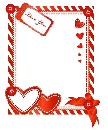Vector of Valentine vertical card Stock Vector - 11674156