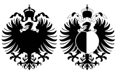 Vecor of 2 arms with an eagle on white