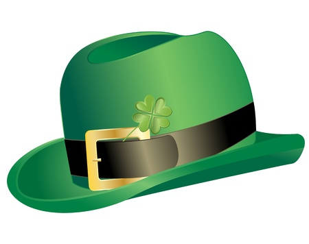 leprechauns hat: Vector of Leprechauns hat with clover
