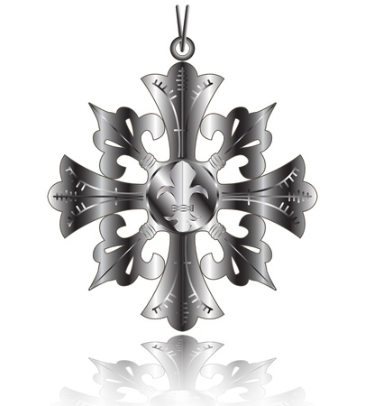 Vector of French order of Lily  Fleur de lys  Vector