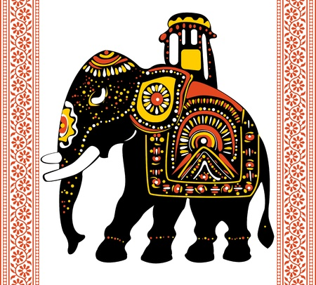 Vector of Festive indian elephant  イラスト・ベクター素材