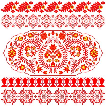 Vector Indian ornaments on white