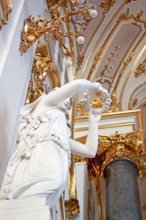hermitage: Main State Hermitage, st. Petersburg in Russia Stock Photo