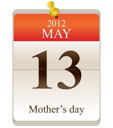Vector of mothers day for 2012 on calendar Vector