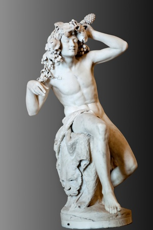 greek gods: Bacchus (Dionysus) marble statue at Hermitage, st. Petersburg in Russia Stock Photo