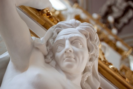 Stone man on Main State Hermitage, st. Petersburg in Russia photo