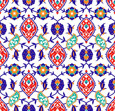 Vector of Traditional Islamic flower Pattern on white 版權商用圖片 - 13292387
