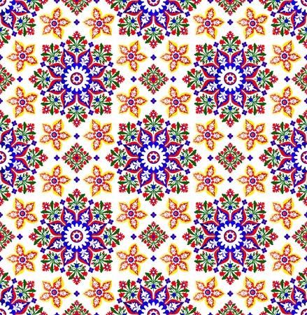 白の伝統的なイスラムのパターン ベクトル