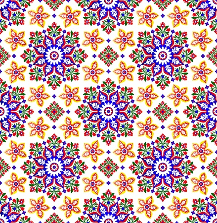 Vector of traditional Islamic Pattern on white