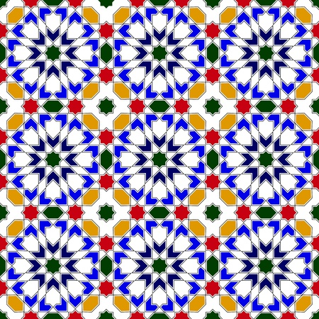 Vector of mosaic in traditional Islamic design Vector
