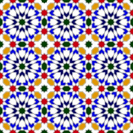 moorish: Vector of mosaic in traditional Islamic design Illustration