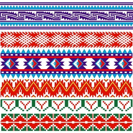 白の古代アメリカ パターンのベクトル画像  イラスト・ベクター素材