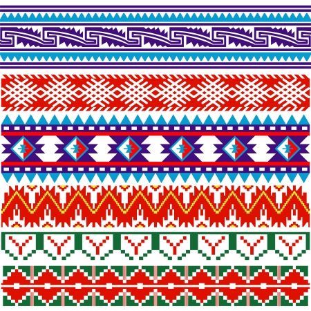 Vector image of ancient american pattern on white