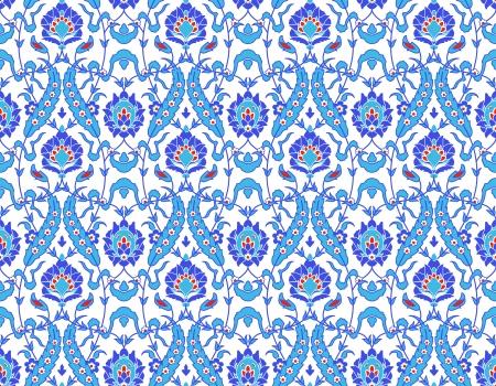 白のイスラム花パターンのベクトル