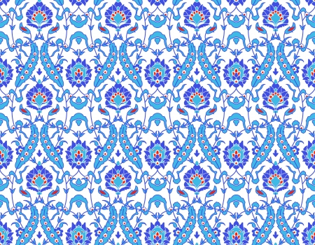 persian: Vector of Islamic flower Pattern on white